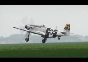 Pure Mustang P-51D Whistle Sounds Oostwold Airshow 2013