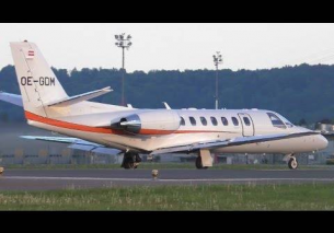 The Flying Bulls Cessna 560 Citation Encore  takeoff at Graz Airport | OE-GDM