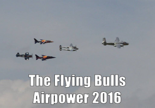 Flying Bulls takeoff at Airpower 2016