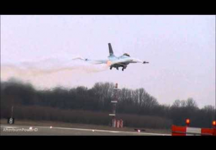 Afterburner passes F16 Demoteam EHLW 28-3-2013