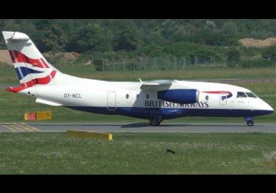 Sun Air of Scandinavia Dornier 328JET landing at Graz Airport | OY-NCL