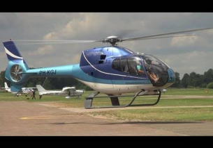 Close landing Eurocopter EC-120B Colibri Teuge Airport