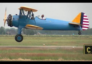 "1941 Boeing A75N1 / PT-17 ""Stearman"" NAVY Biplane – TEUGE AIRPORT"