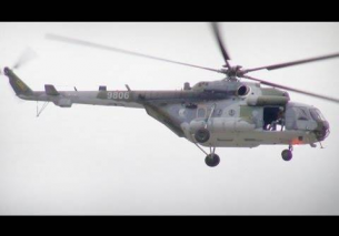Low pass 2x Czech MIL MI-171 spotersday Kleine Brogel 2013