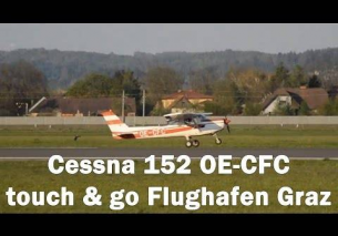 Cessna 152 touch and go Flughafen Graz | OE-CFC