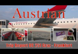 TRIP REPORT Austrian Airlines Embraer 195 from Graz to Frankfurt | OS251