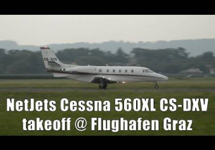 NetJets Cessna 560XL Citation takeoff @ Flughafen Graz | CS-DXV