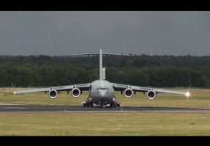 Take off NATO Boeing C-17 Globemaster III Eindhoven Airport 2013