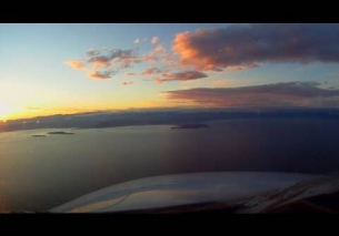 Nice Cote d'Azur Airport – Sunset Landing (Cockpit View)