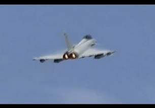 Frisian Flag 2014 Afterburner departure 4x Eurofighter German Air Force