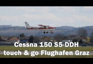 Cessna 150 touch and go Flughafen Graz | S5-DDH