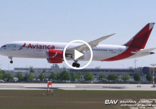 Boeing 787-8 Dreamliner – Avianca N791AV – landing at Munich Airport