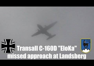 Transall C-160D ESS missed approach in fog