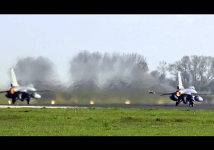 Duo F-16 Afterburner Take Off Belgian AF