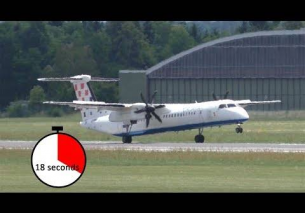 18 SECONDS WHEELIE Croatia Airlines Dash 8 landing at Graz Airport | 9A-CQE