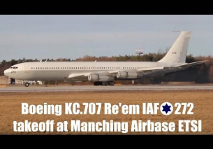 IAF Boeing KC.707 Re'em takeoff at Manching Airbase (5.february2017)