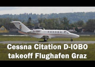 OBO Cessna Citation takeoff Flughafen Graz | D-IOBO