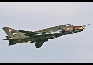 Polish Su-22 Fitter Afterburn Power demo