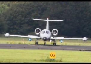 F16 takeoff waves and N116MA Learjet 36A EHLW