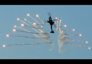 AH-64D Apache Demo Team RNLAF Flares Belgian Air Force Days