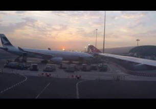 Turkish Airlines landing in Dubai (DXB) from Istanbul (IST)