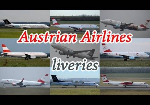 Austrian Airlines 5 different liveries